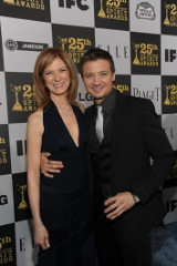 Dawn Hudson and Jeremy Renner