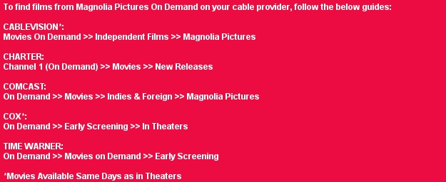 Magnolia Pictures On Demand