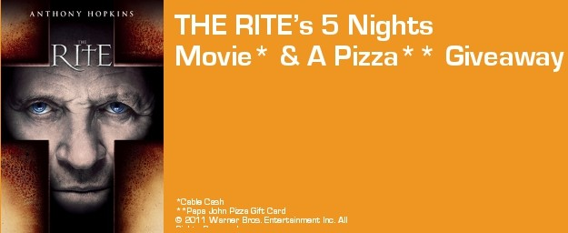 THE RITE's 5 Nights Movie & A Pizza Giveaway