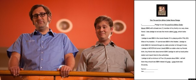 Who Made Your Favorite TIM AND ERIC'S BILLION DOLLAR MOVIE Pledge?